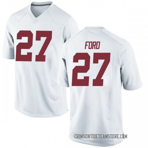 Men's Nike Jerome Ford Alabama Crimson Tide Game White Football College Jersey