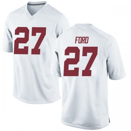 Men's Nike Jerome Ford Alabama Crimson Tide Replica White Football College Jersey