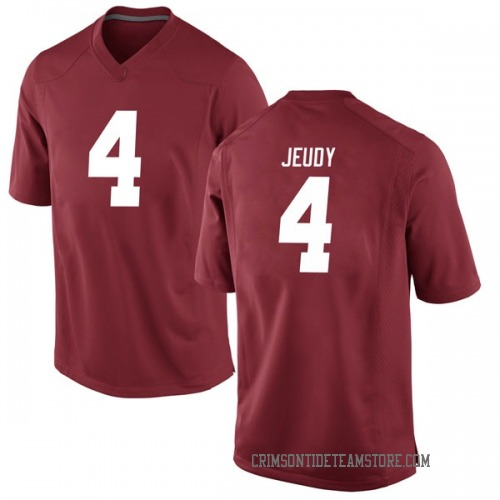 Men's Nike Jerry Jeudy Alabama Crimson Tide Game Crimson Football College Jersey