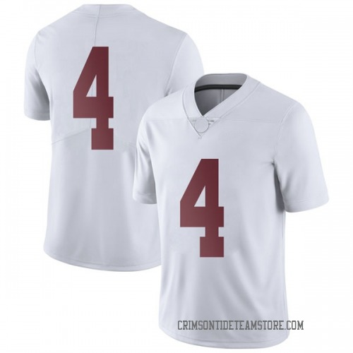 Men's Nike Jerry Jeudy Alabama Crimson Tide Limited White Football College Jersey