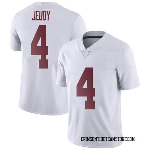 Men's Nike Jerry Jeudy Alabama Crimson Tide Limited White Football College Jersey