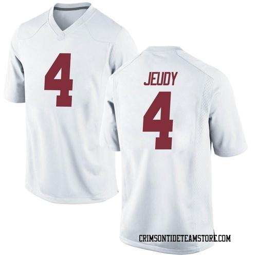 Men's Nike Jerry Jeudy Alabama Crimson Tide Replica White Football College Jersey