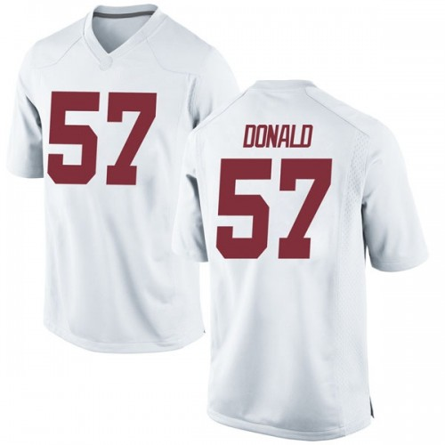 Men's Nike Joe Donald Alabama Crimson Tide Game White Football College Jersey