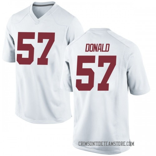 Men's Nike Joe Donald Alabama Crimson Tide Replica White Football College Jersey