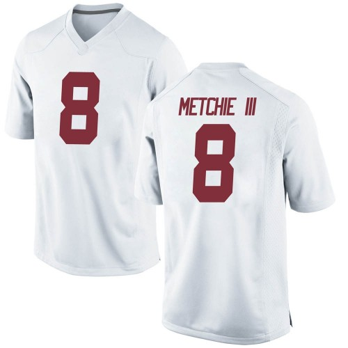 Men's Nike John Metchie Alabama Crimson Tide Replica White Football College Jersey