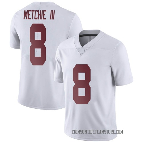 Men's Nike John Metchie III Alabama Crimson Tide Limited White Football College Jersey