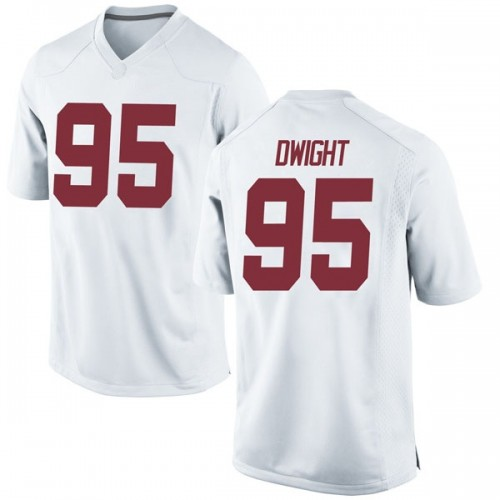 Men's Nike Johnny Dwight Alabama Crimson Tide Game White Football College Jersey