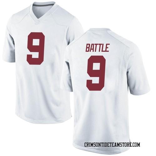 Men's Nike Jordan Battle Alabama Crimson Tide Replica White Football College Jersey