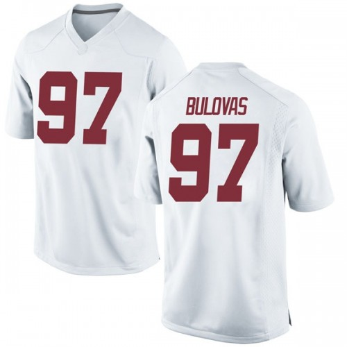 Men's Nike Joseph Bulovas Alabama Crimson Tide Game White Football College Jersey
