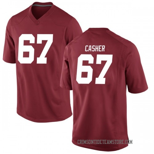 Men's Nike Joshua Casher Alabama Crimson Tide Game Crimson Football College Jersey