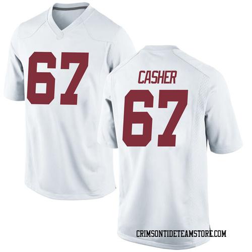 Men's Nike Joshua Casher Alabama Crimson Tide Game White Football College Jersey
