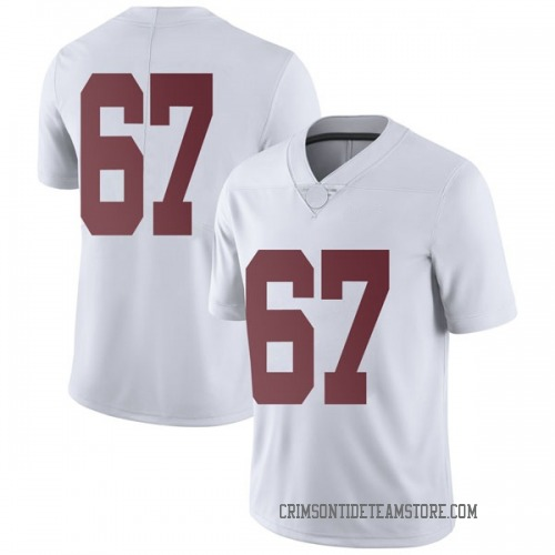 Men's Nike Joshua Casher Alabama Crimson Tide Limited White Football College Jersey