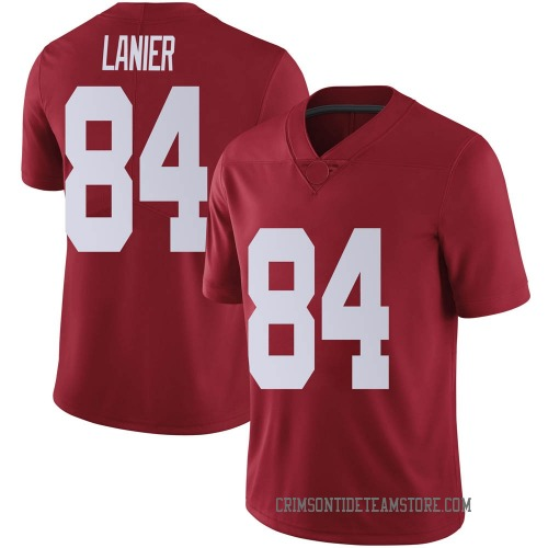 Men's Nike Joshua Lanier Alabama Crimson Tide Limited Crimson Football College Jersey