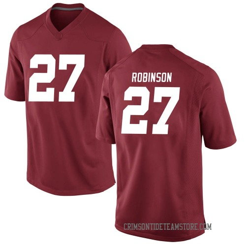 Men's Nike Joshua Robinson Alabama Crimson Tide Game Crimson Football College Jersey