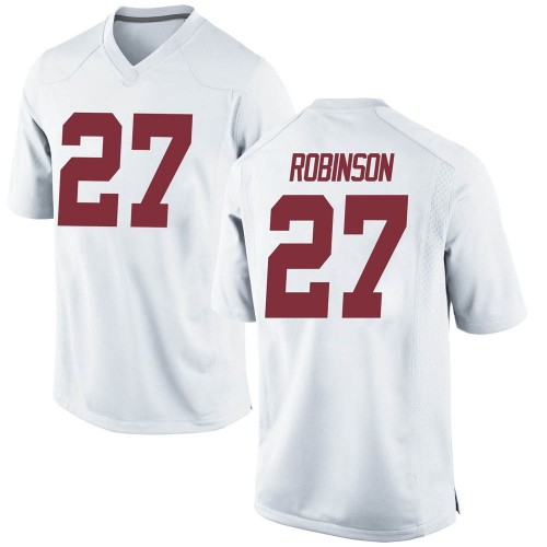 Men's Nike Joshua Robinson Alabama Crimson Tide Game White Football College Jersey