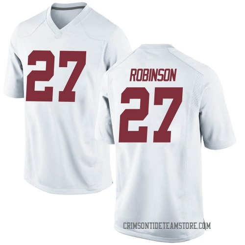 Men's Nike Joshua Robinson Alabama Crimson Tide Replica White Football College Jersey