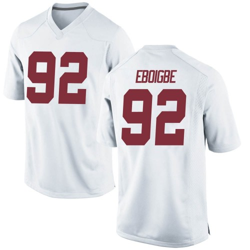 Men's Nike Justin Eboigbe Alabama Crimson Tide Game White Football College Jersey