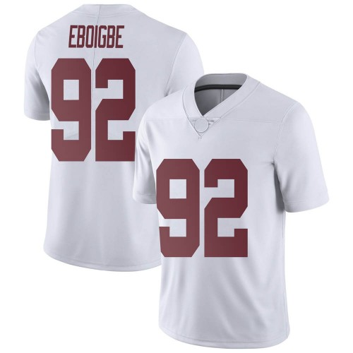 Men's Nike Justin Eboigbe Alabama Crimson Tide Limited White Football College Jersey