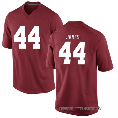 Men's Nike Kedrick James Alabama Crimson Tide Game Crimson Football College Jersey
