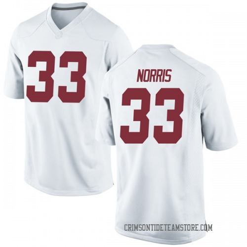 Men's Nike Kendall Norris Alabama Crimson Tide Replica White Football College Jersey