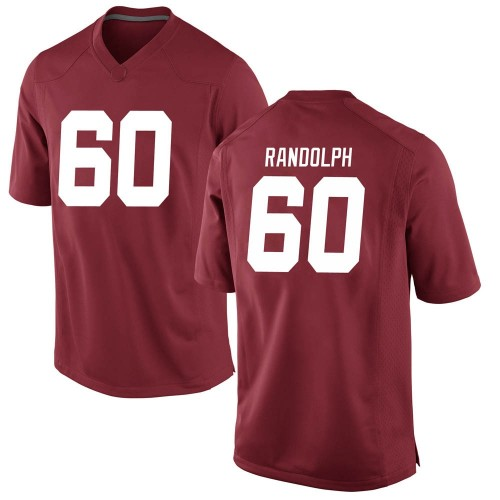 Men's Nike Kendall Randolph Alabama Crimson Tide Game Crimson Football College Jersey