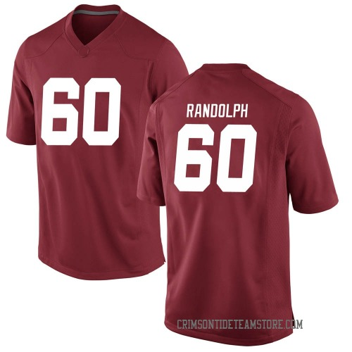 Men's Nike Kendall Randolph Alabama Crimson Tide Replica Crimson Football College Jersey