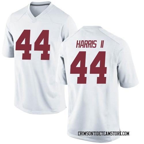 Men's Nike Kevin Harris II Alabama Crimson Tide Replica White Football College Jersey
