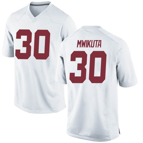 Men's Nike King Mwikuta Alabama Crimson Tide Game White Football College Jersey