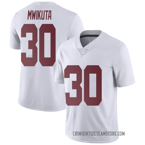 Men's Nike King Mwikuta Alabama Crimson Tide Limited White Football College Jersey
