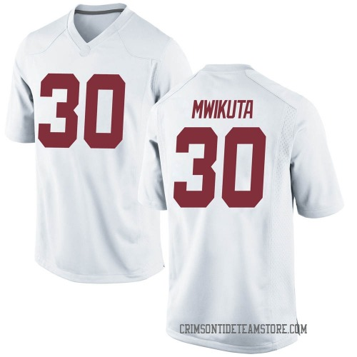 Men's Nike King Mwikuta Alabama Crimson Tide Replica White Football College Jersey