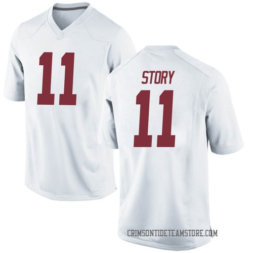 Men's Nike Kristian Story Alabama Crimson Tide Game White Football College Jersey