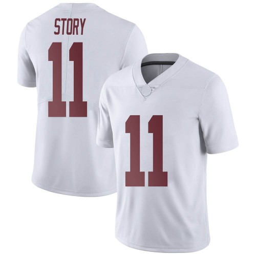 Men's Nike Kristian Story Alabama Crimson Tide Limited White Football College Jersey