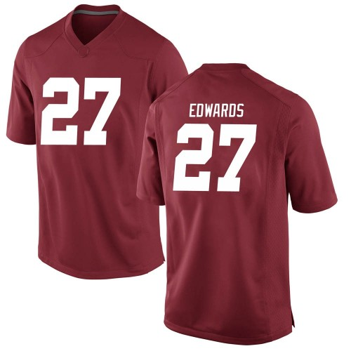 Men's Nike Kyle Edwards Alabama Crimson Tide Game Crimson Football College Jersey