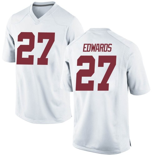 Men's Nike Kyle Edwards Alabama Crimson Tide Game White Football College Jersey