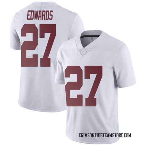 Men's Nike Kyle Edwards Alabama Crimson Tide Limited White Football College Jersey