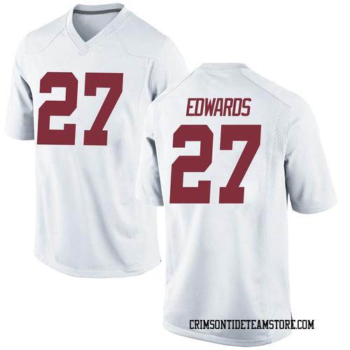 Men's Nike Kyle Edwards Alabama Crimson Tide Replica White Football College Jersey