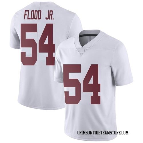 Men's Nike Kyle Flood Jr. Alabama Crimson Tide Limited White Football College Jersey