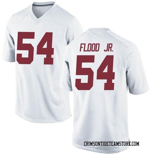 Men's Nike Kyle Flood Jr. Alabama Crimson Tide Replica White Football College Jersey