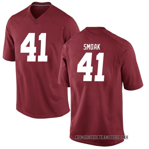 Men's Nike Kyle Smoak Alabama Crimson Tide Game Crimson Football College Jersey