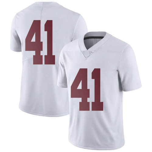 Men's Nike Kyle Smoak Alabama Crimson Tide Limited White Football College Jersey