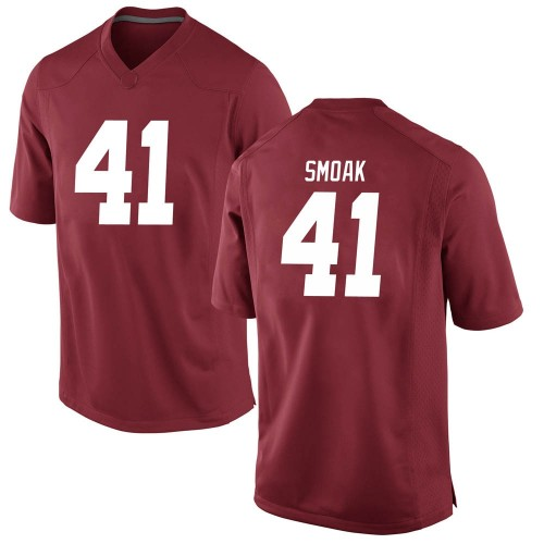 Men's Nike Kyle Smoak Alabama Crimson Tide Replica Crimson Football College Jersey