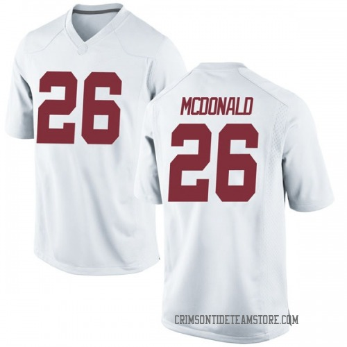 Men's Nike Kyriq McDonald Alabama Crimson Tide Game White Football College Jersey