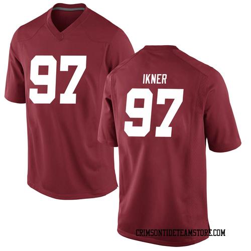 Men's Nike LT Ikner Alabama Crimson Tide Game Crimson Football College Jersey