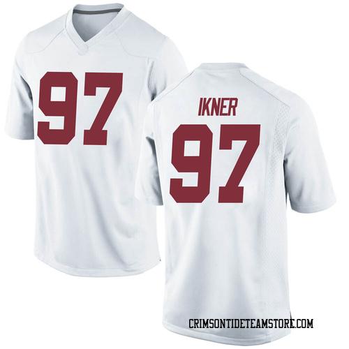 Men's Nike LT Ikner Alabama Crimson Tide Game White Football College Jersey