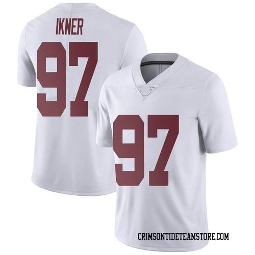 Men's Nike LT Ikner Alabama Crimson Tide Limited White Football College Jersey