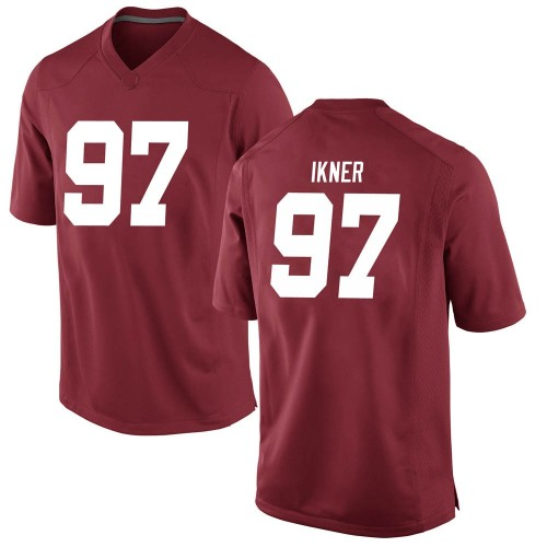 Men's Nike LT Ikner Alabama Crimson Tide Replica Crimson Football College Jersey