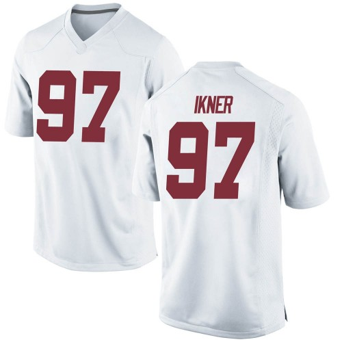 Men's Nike LT Ikner Alabama Crimson Tide Replica White Football College Jersey