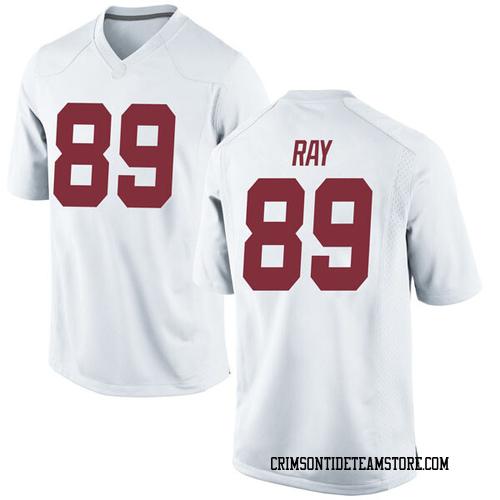 Men's Nike Labryan Ray Alabama Crimson Tide Game White Football College Jersey