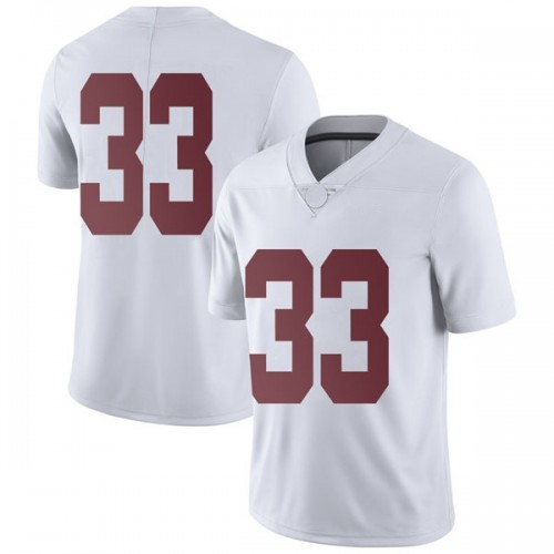 Men's Nike Landon Fuller Alabama Crimson Tide Limited White Football College Jersey