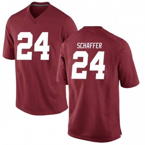 Men's Nike Lawson Schaffer Alabama Crimson Tide Game Crimson Football College Jersey